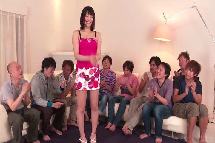 Staggering Asian blow jobs on a group of cock by Mihono..