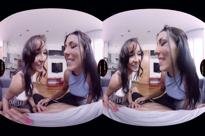 18VR.com Birtay Surprise Threesome By Lesbians Katrin Tequila And Katy Sk34