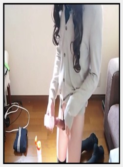 Wonderful legal age teenager Japanese shemale hard with dildo