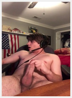 Playing Fortnite while stroking my fat cock until I cum