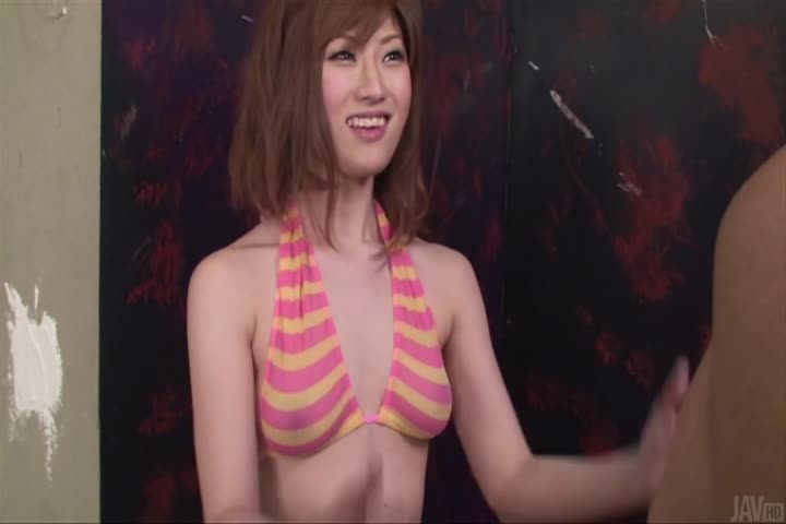 Amazing Asian blow job by horny bimbo Mizuki