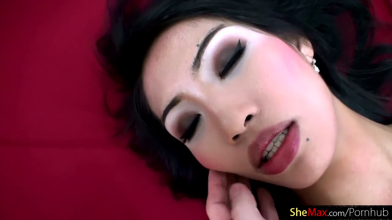 Thai tgirl shows off bigti and finger fucks tight asshole