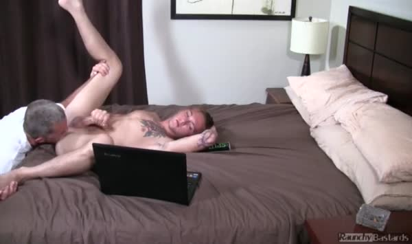 A hunk man wanted to make his dick bigger and massage it82